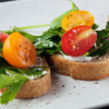 Lisa Waldschmidt's Whipped Ricotta with Herb Salad on Crostini
